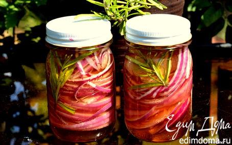 Рецепт Розовый маринованный лук