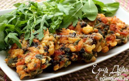 Рецепт Рубленые куриные котлеты с лесными грибами и сыром Джюгас