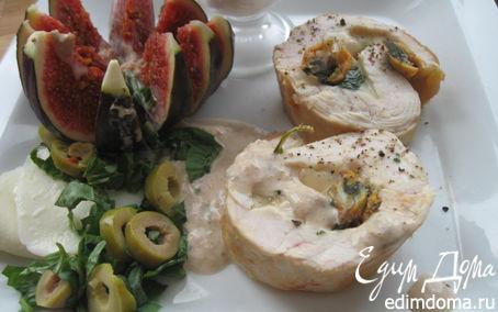Рецепт Фаршированное куриное филе с соусом из тунца