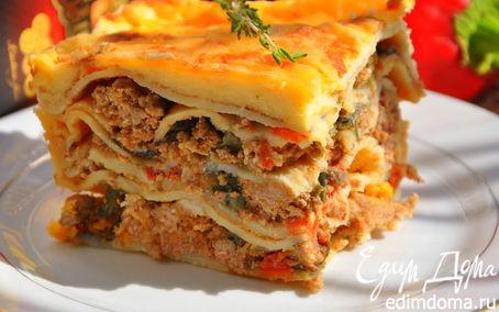 Рецепт Мусака из блинчиков с сырами Джюгас