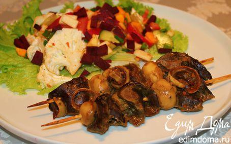 Рецепт Печеночный шашлык