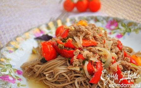 Рецепт Гречневая лапша с овощами
