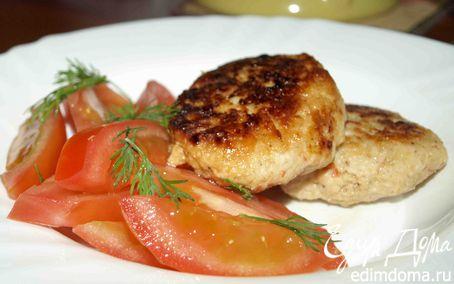 Рецепт Куриные котлеты с помидорами