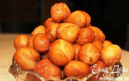 Рецепт Творожные шарики в кленовом сиропе
