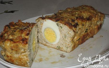 Рецепт Мясной рулет с куриным яйцом