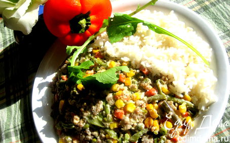 Рецепт Овощной микс с фаршем