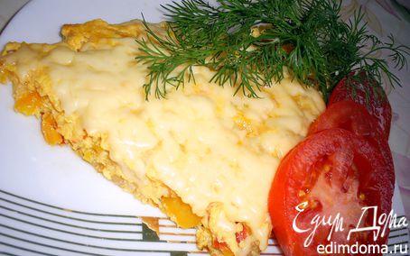 Рецепт Сытный омлет с овощами и курицей