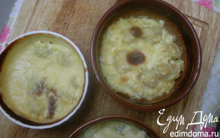 Рецепт Кокот (кокиль) с гребешками без муки