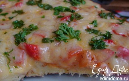 Рецепт Пицца «Минутка» на сковороде