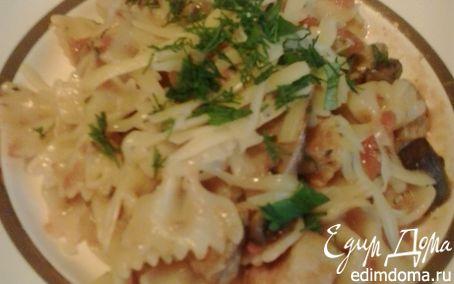 Рецепт Паста со свининой и маслятами