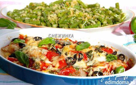 Рецепт Рыба по-итальянски со стручковой фасолью в хлебных крошках (Fagiolini all aglio e mollica)»