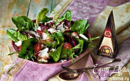 Рецепт Салат «Цезарь» с беконом и сыром Джюгас
