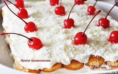 """Рецепт Итальянский десерт """"Тирамису с вишней"""""""