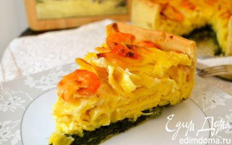 Рецепт Итальянский торт из тальятелле с креветками