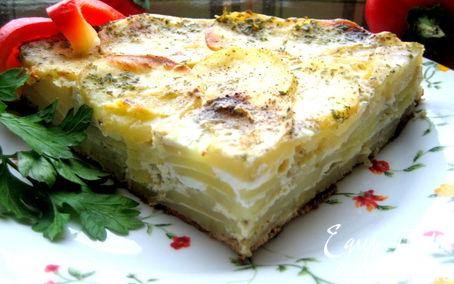 Рецепт Семислойная картофельная фриттата в аэрогриле