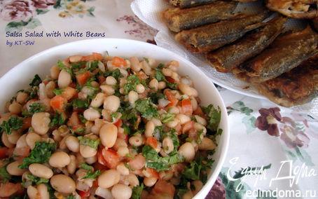 Рецепт Салат с белой фасолью