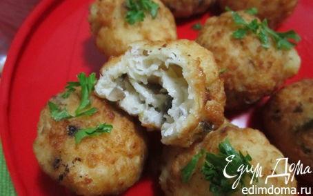 Рецепт Сырные шарики с грибами и сыром Джюгас