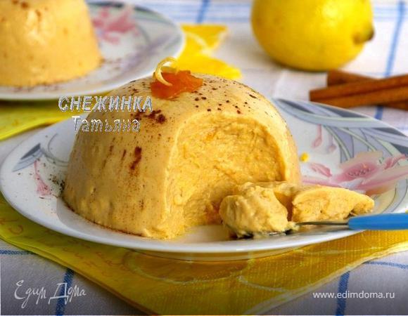 Тыквенный кремовый десерт