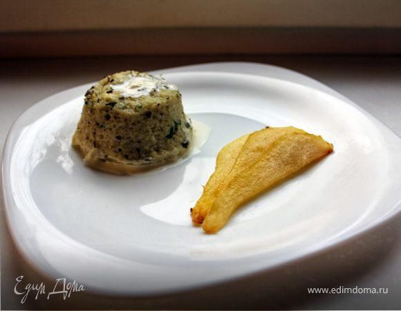 Дважды запеченное суфле «Горгонзола» и карамелизованная груша