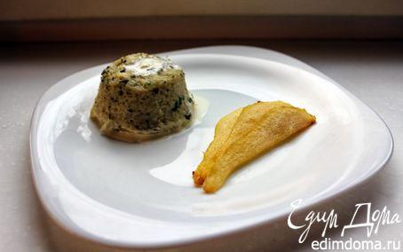 Рецепт Дважды запеченное суфле «Горгонзола» и карамелизованная груша
