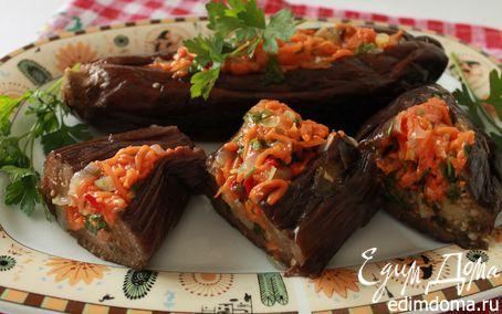 Рецепт Квашеные баклажаны, фаршированные тыквой