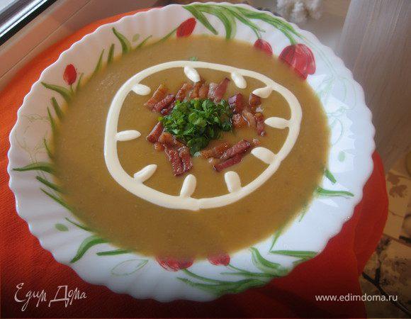 Суп-пюре с тыквой на бульоне из сухих белых грибов