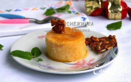 Рецепт Тыквенно-яблочный флан с медом и пралине из тыквенных семечек