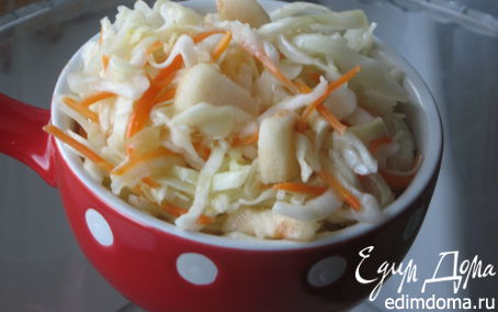 Рецепт Быстрая маринованная капуста с яблоками и медом
