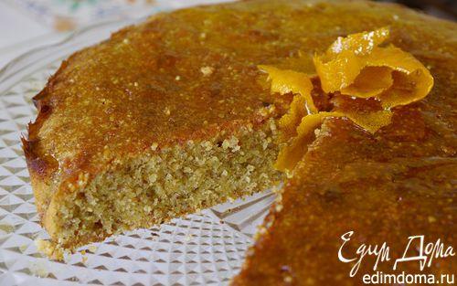 Рецепт Апельсиново-миндальный пирог с карамелью