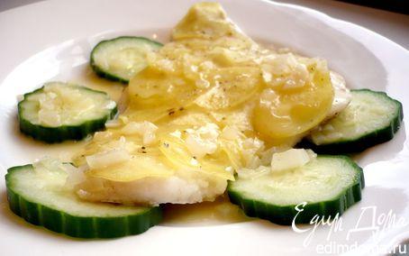 Рецепт Гратен с треской и картофелем под ванильно-сливочным соусом