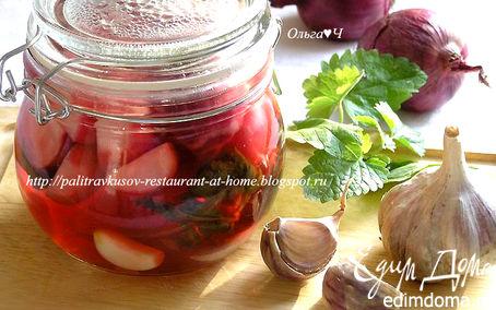 Рецепт Маринованные овощи с мелиссой