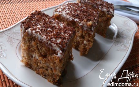 Рецепт Морковный пирог с грецкими орехами и изюмом