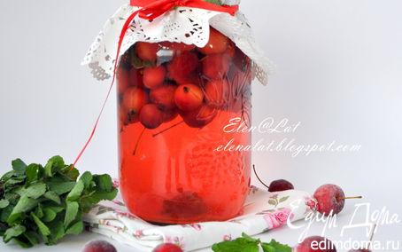 Рецепт Компот из райских яблок с мятой