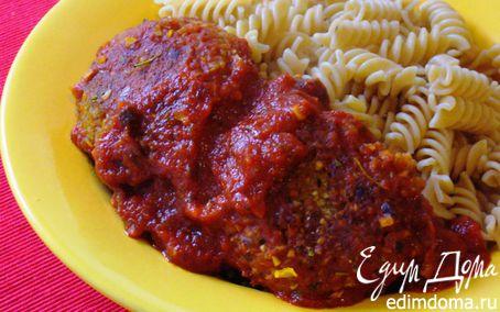Рецепт Гречневые котлетки в минутном томатном соусе с цельнозерновыми фузилли