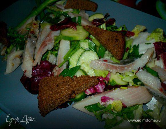 Cалат из селедочки и овощей