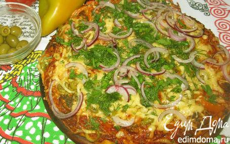Рецепт Пицца с маринованным мясом