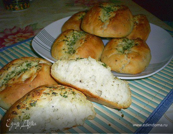 Японские чесночные хлебцы