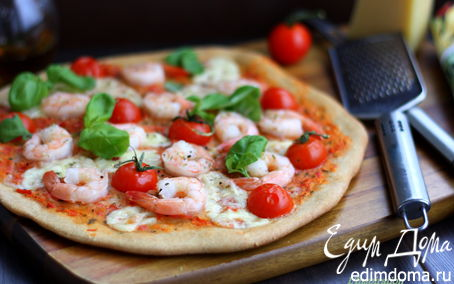 Рецепт Нежнейшая пицца с морепродуктами
