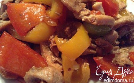 Рецепт Жареное мясо со сладким перцем по-китайски