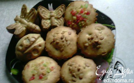 Рецепт Кексики с цукатами и кедровыми орешками