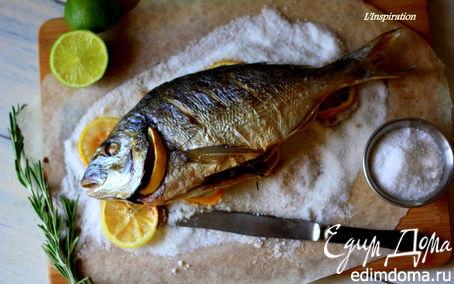 Рецепт Дорада на подушке из соли и лимонов