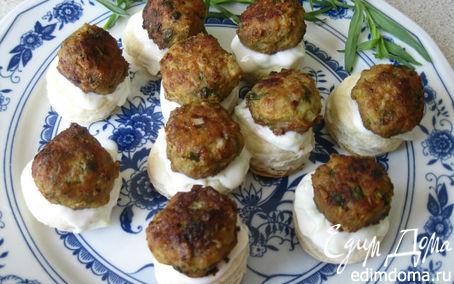Рецепт Мясная закуска с соусом дзадзики по-гречески