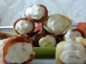 Хрустящие вафли с маскарпоне и фруктами