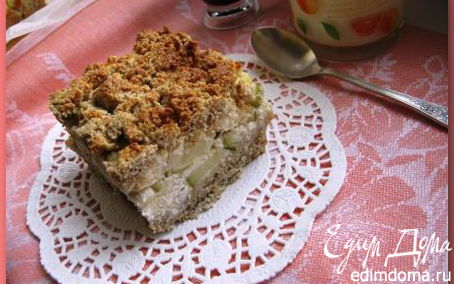 """Рецепт Полезный пирог с яблоками по мотивам """"Королевской ватрушки"""""""