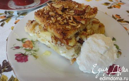 Рецепт Хлебный яблочный пудинг по-крестьянски
