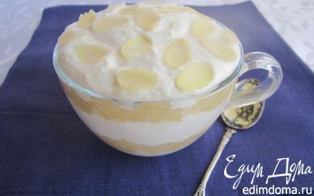 Рецепт Творожный десерт с яблочным муссом