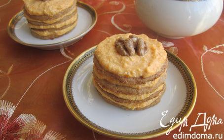 Рецепт Пирожное с тыквенно-творожным кремом