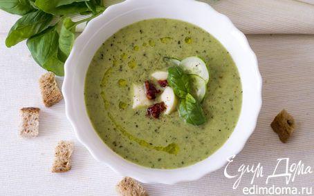 Рецепт Холодный огуречный суп с моцареллой