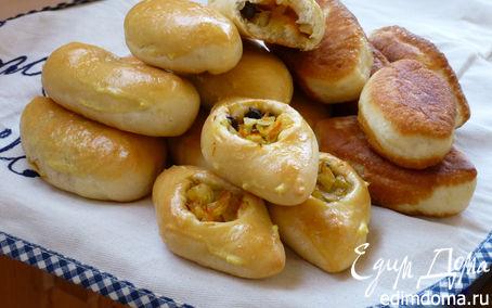 Рецепт Пирожки с капустой и грибами по бабушкиному рецепту