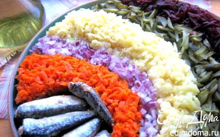 Рецепт Праздничный винегрет с сардинами